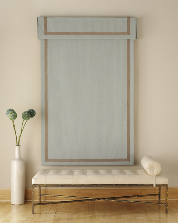 Roller roman atlanta blind and shade for Fabric window blinds designs
